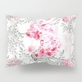 PINK ORCHIDS IN SPRING BLOOM Pillow Sham