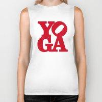 yoga Biker Tanks featuring YoGA by Isamu