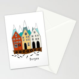 Norway Bergen Souvenir  Stationery Cards