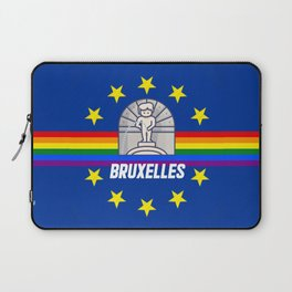 Brussels Bruxelles Lgbt gay pride season rainbow flag  Laptop Sleeve