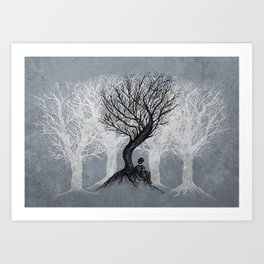 Beneath the Branches Art Print