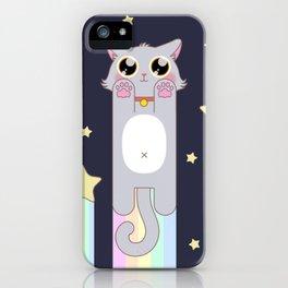 Pastel Cat Space iPhone Case