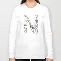 frames Long Sleeve T-shirts featuring letter N - nailed frames by judypleung