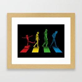 Stray Dog Strut Framed Art Print