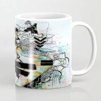 blueprint Mugs featuring BluePrint by PrincessM