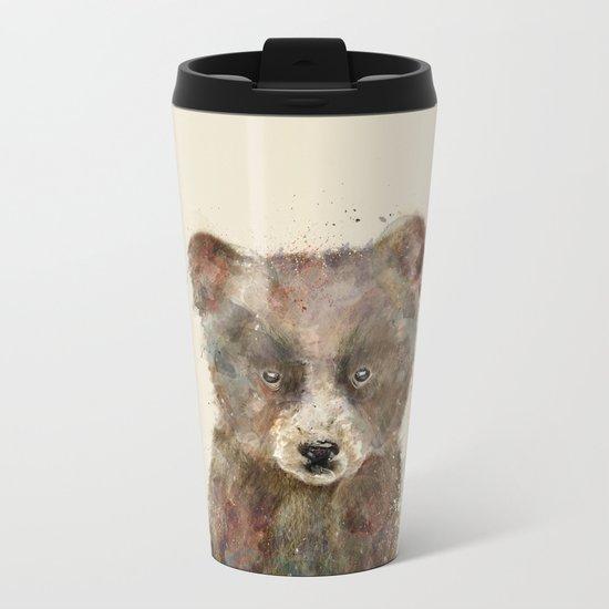 little brown bear Metal Travel Mug