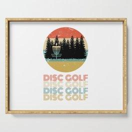 Disc Golf Discgolf Vintage Design Serving Tray