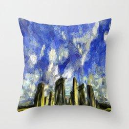 Vincent Van Gogh Stonehenge Throw Pillow