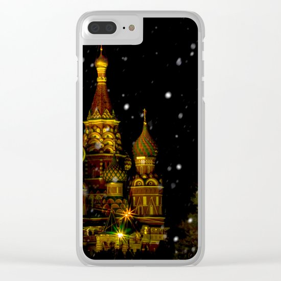 Moscow Night Clear iPhone Case