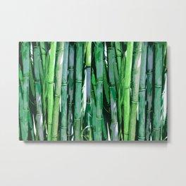 Emerald Bamboo Trees Metal Print