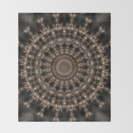 Mandala grey elegance Throw Blanket
