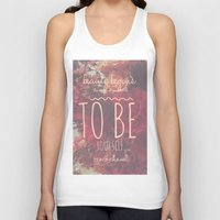 coco Tank Tops featuring coco by Audriana Bruna