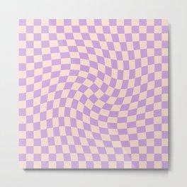 Check V - Lilac Twist — Checkerboard Print Metal Print