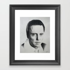 Christopher Walken Framed Art Print