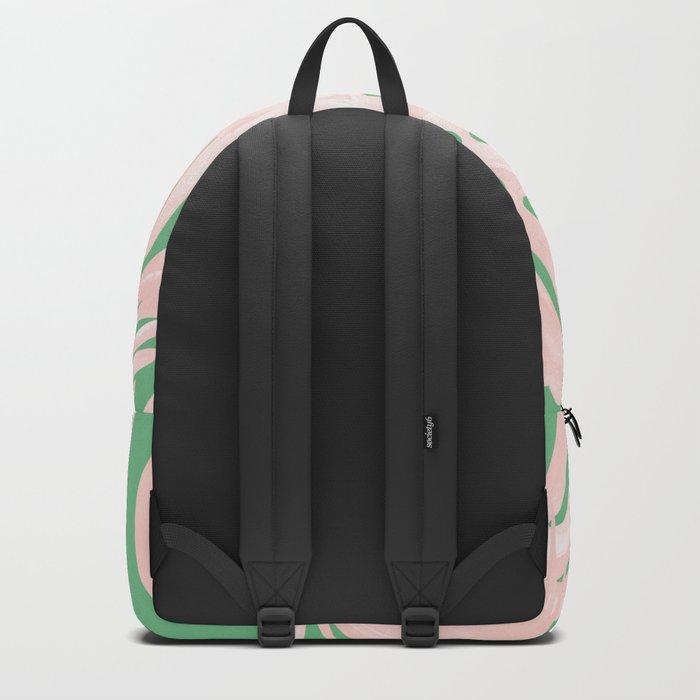 Island Love Seashell Pink + Green Backpack