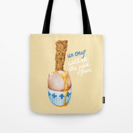Un Oeuf With All The Food Puns Tote Bag