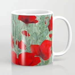 Poppies in red and green Coffee Mug