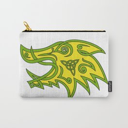 Boar Head Celtic Knot Carry-All Pouch