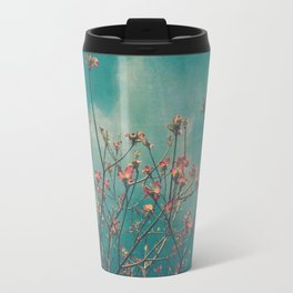 Spring Botanical -- Vintage Pink Dogwood Branches in Flower Travel Mug