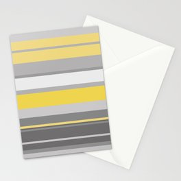 yellow and grey horizontal Stationery Cards