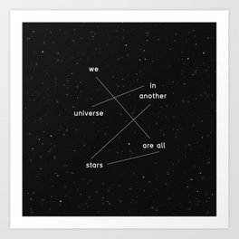 we are all stars Art Print