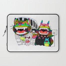 Totoro fan art (cat bus) by Luna Portnoi Laptop Sleeve