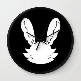 Emo Bunny White Silhouette Wall Clock