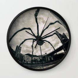 Along Came a Spider - b/n Wall Clock