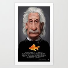Celebrity Sunday ~ Albert Einstein Genius Fish Art Print
