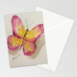 Watercolor Butterfly Stationery Cards