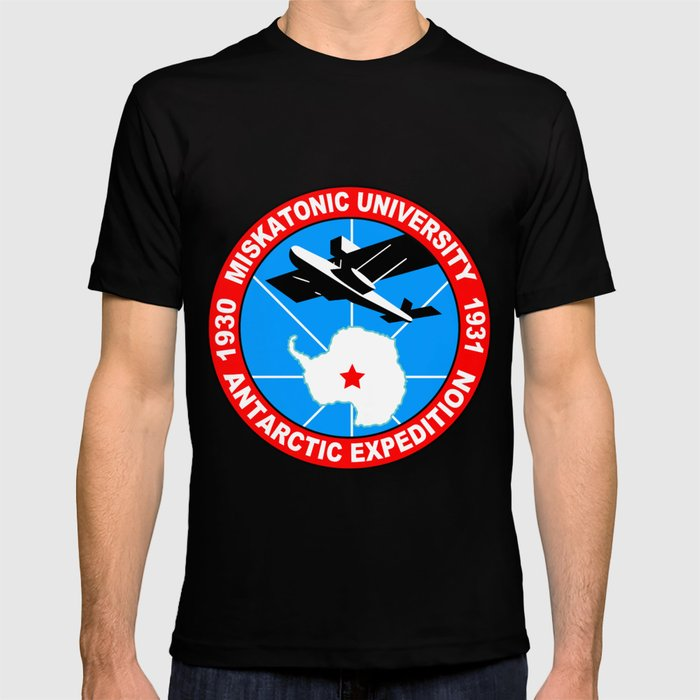 Miskatonic university antarctic expedition T-shirt by junaputra