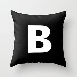 B Throw Pillow