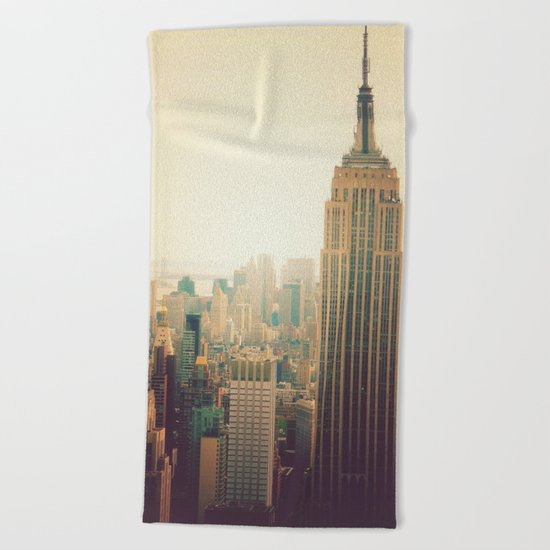 New York City - Empire State Building Beach Towel