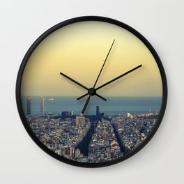 Barcelona view Wall Clock