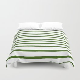 Simply Drawn Stripes in Jungle Green Duvet Cover