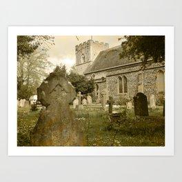 4/ Grave Yard by Kathryn Ward Art Print