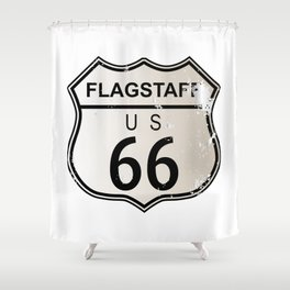 Flagstaff Route 66 Shower Curtain