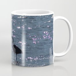 Egret Heron Silhouette Coffee Mug