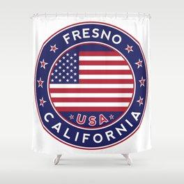 Fresno, California Shower Curtain