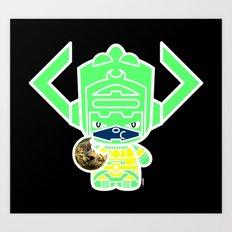 Chibi-Fi Galactus Art Print