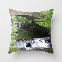 Little Bridge at the Falls Throw Pillow