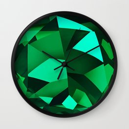 triangles of green Wall Clock