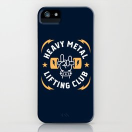 Heavy Metal Lifting Club (Yellow) iPhone Case