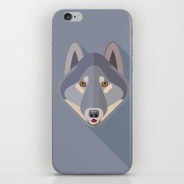 Gray wolf iPhone Skin
