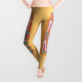 It's a no from me 2, typography poster design Leggings