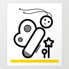 ABC: I Art Print
