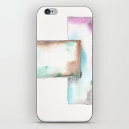 180914 Minimalist Geometric Watercolor 6 iPhone Skin