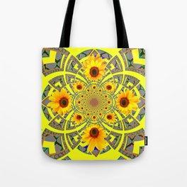 YELLOW SUNFLOWER  ART MODERN ART PATTERN Tote Bag
