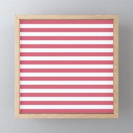 Large Nantucket Red Horizontal Sailor StripesLarge Nantucket Red Horizontal Sailor Stripes Framed Mini Art Print