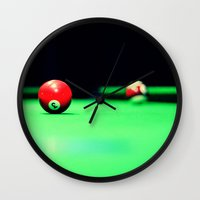 solid Wall Clocks featuring Solid by Christa Bullock